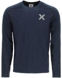 KENZO Sport Long-sleeved T-shirt Cross Logo - Blue
