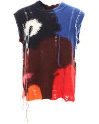 Alexander McQueen Multicolor Sleeveless Knit - Red