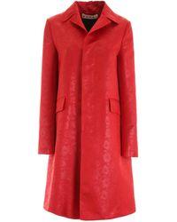 Marni Floral-printed Coat - Red