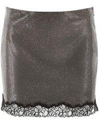 Philosophy Micro Crystal Mini Skirt - Metallic
