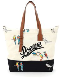 Loewe Paula's Ibiza Collaboration Tote Bag Parrots Print - Multicolour