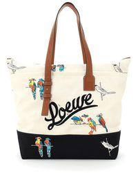 Loewe Paula's Ibiza Collaboration Tote Bag Parrots Print - Multicolour