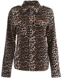 Ganni Leopard-printed Shirt - Black