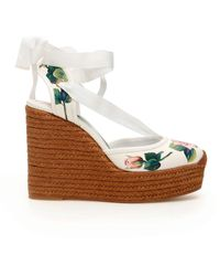 Dolce & Gabbana Lola Wedge Sandals Tropical Rose - Multicolor