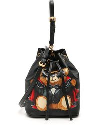 Moschino - Bat Teddy Bear Bucket Bag - Lyst