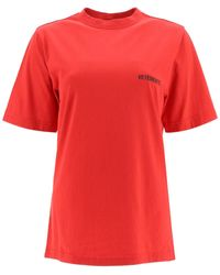Vetements T-shirt With Logo Print - Red