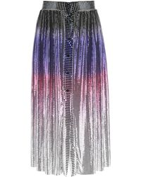 Paco Rabanne Mini Mesh Shaded Skirt - Blue