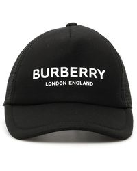 Burberry Logo Embroidered Cap - Black