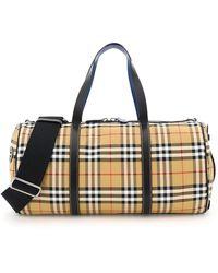 Burberry Travel Duffle Weekend Shoulder Bag Kennedy - Blue