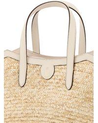 Mark Cross Madeline Straw Basket Bag Os Leather - Multicolor