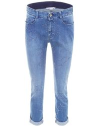Stella McCartney - Jeans With Embroidered Stars - Lyst