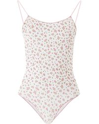 Oséree Floral Swimsuit - White