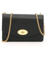 Mulberry Grain Leather Small Darley Bag - Black