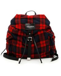 DSquared² - Tartan Check Backpack - Lyst