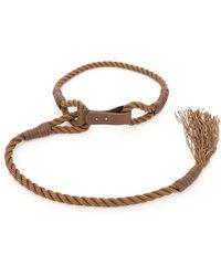 Max Mara Vespa Braided Rope Belt - Brown