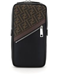 Fendi Ff Stripe One-shoulder Backpack - Multicolour