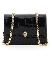 Alexander McQueen Skull Micro Bag - Black
