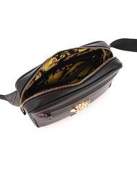 Versace Medusa Leather Beltpack - Black