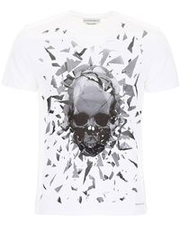 Alexander McQueen Shattered Skull T-shirt - White
