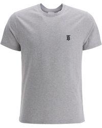 Burberry Logo T-shirt Gray