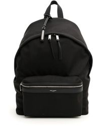 Saint Laurent City Backpack Os Leather,technical - Black