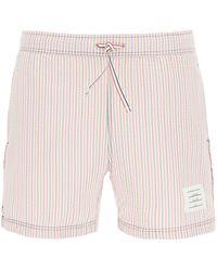 Thom Browne Seersucker Swim Shorts - Multicolour