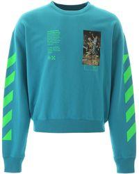 Off-White c/o Virgil Abloh Pascal Painting Sweatshirt - Blue
