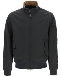 Barbour International Harrington Bomber Jacket In Lightweight Waxed Cotton - Multicolour