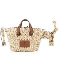 Anya Hindmarch Donkey Small Basket Bag - Natural