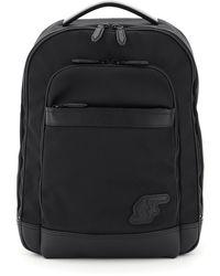 Ferragamo Fabric Backpack Sf Monogram Os Leather,technical - Black
