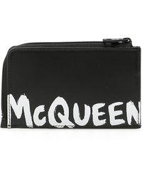 Alexander McQueen Graffiti Logo Pouch - Black
