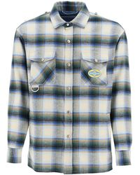Golden Goose Allen Check Shirt Jacket - Blue