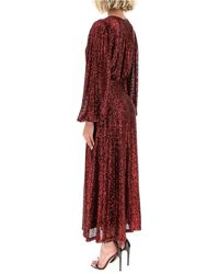 In the mood for love Irina Sequined Dress - Red