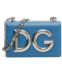Dolce & Gabbana Leather Dg Girls Bag - Blue