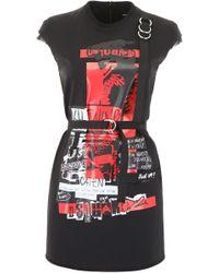 DSquared² Punk Rock Mini Dress - Red
