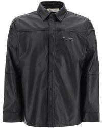 1017 ALYX 9SM Drake Leather Shirt 46 Leather - Black