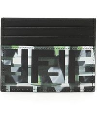 Fendi Black And Green Forever Camouflage Card Holder
