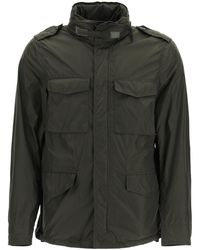 Aspesi Mini Field Jacket In Taffeta S Technical - Green
