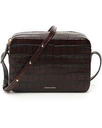 Mansur Gavriel Double Zip Crossbody Bag - Brown