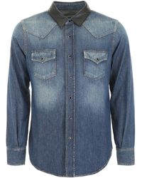 Saint Laurent Denim Western Shirt - Blue