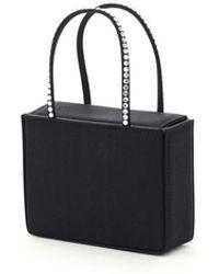 AMINA MUADDI Supermini Gilda Bag Os Silk - Black