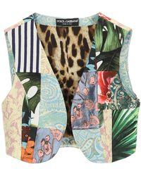 Dolce & Gabbana GILET PATCHWORK - Multicolore