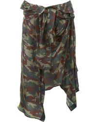 Faith Connexion Camouflage Skirt - Green