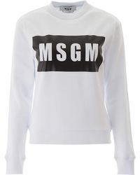 MSGM Box Logo Sweatshirt - White