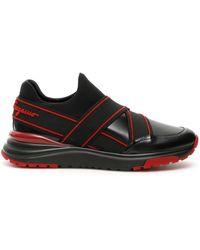 Ferragamo Elasticated Strap Slip-on Trainers - Black
