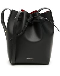 Mansur Gavriel Mini Bucket Bag Leather Black/flamma