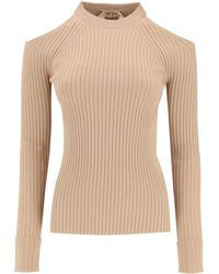 N°21 N.21 Sweater Open On Shoulder - Natural