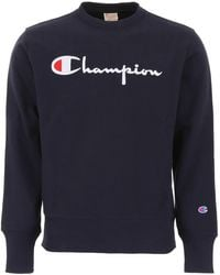 Champion - Blue Cotton Sweatshirt - Lyst