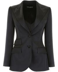 Dolce & Gabbana Single-breasted Jacket - Black