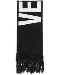 Vetements Reversible Scarf With Maxi Logo - Black
